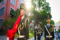 上海理工大学MPA | 升国旗奏国歌!上理师生祝福祖国!